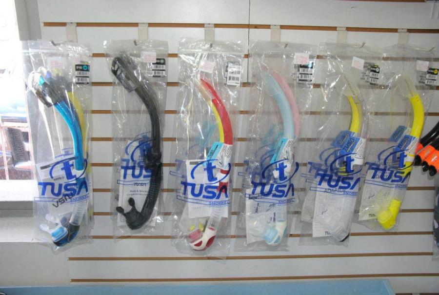 Wide range of snorkeling accessories from TUSA at Hazell's Water World - Diver Supply Barbados