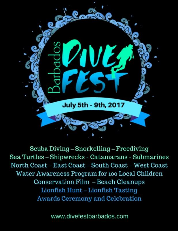 Barbados Dive Fest 2017 flyer