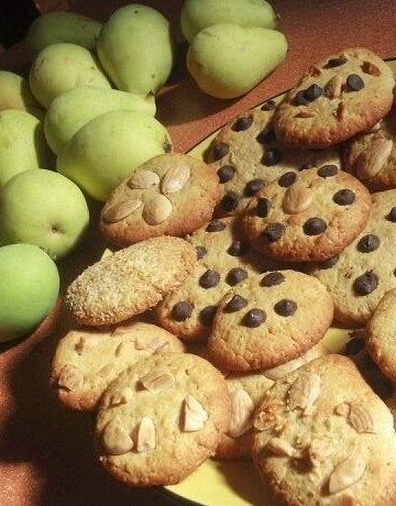 Galletas con pepitas de chocolate.