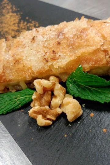 Strudel de manzana con pasta filo