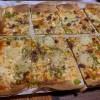 Porciones de Pizza de verdura con jamón y queso