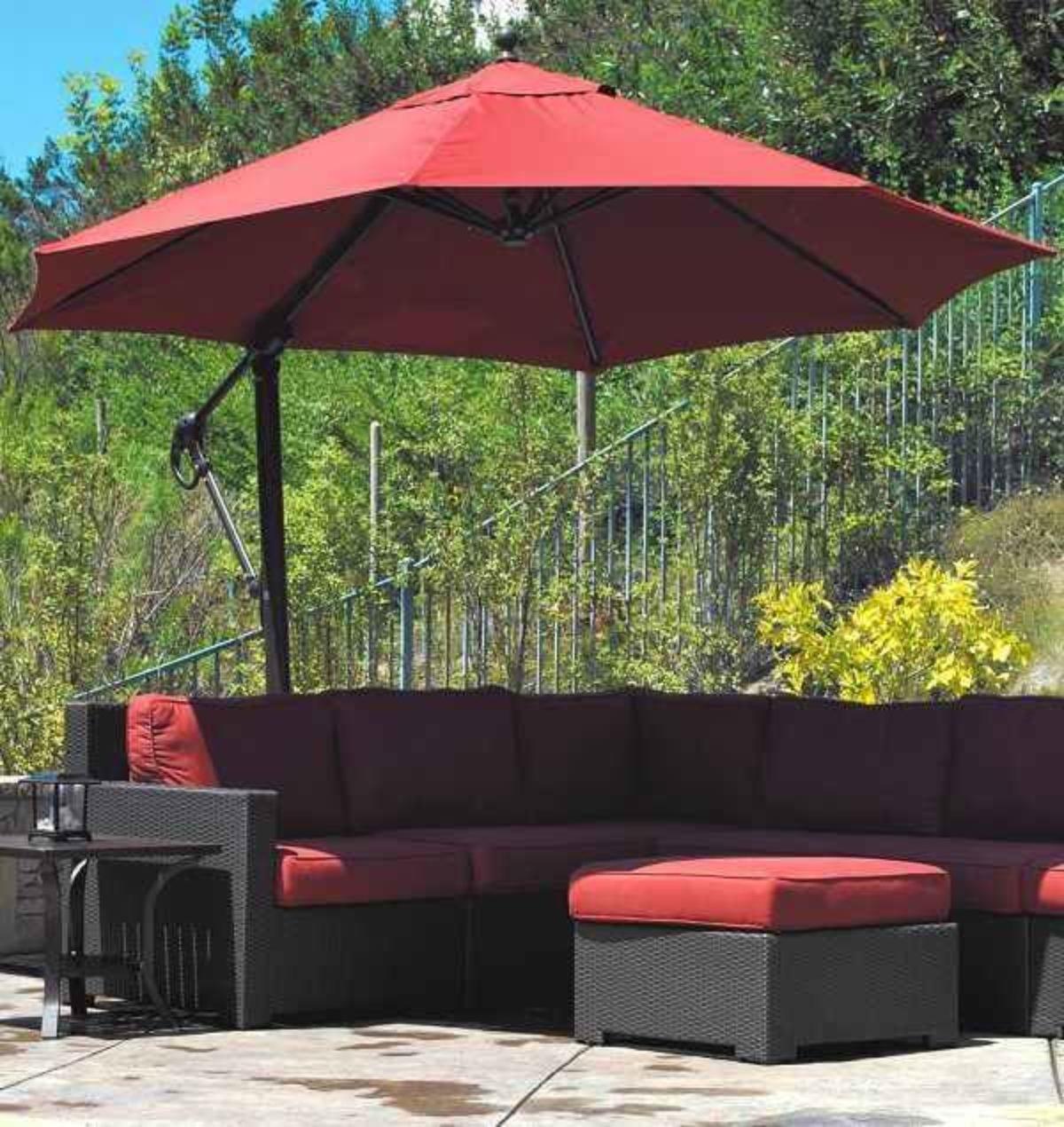 7 offset patio umbrella lowes to decor