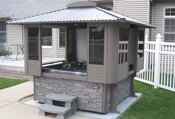 Outdoor Pond Building