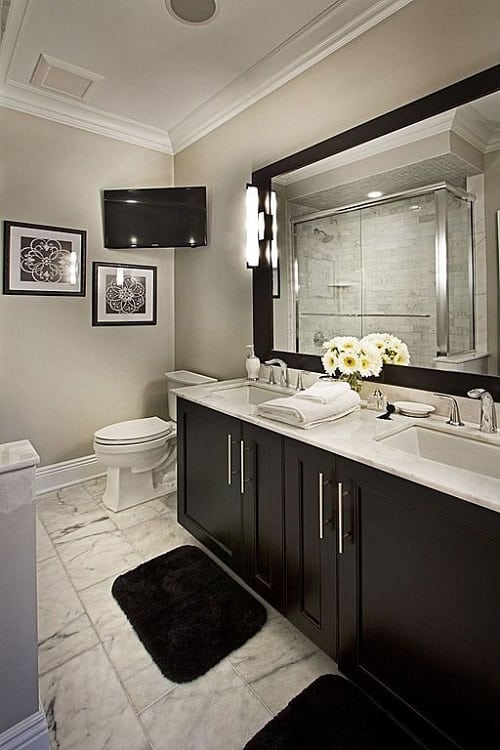 15+ Gorgeous Colored Bathroom Vanity Ideas for Your Bathroom on Model Bathroom  id=77281