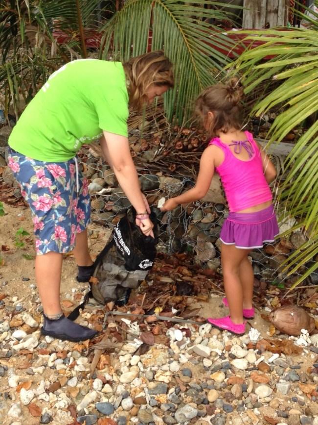 Nic and Sasha clean up ABC beach