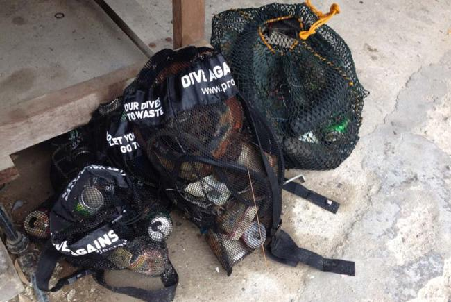 Debris collected from under ABC jetty