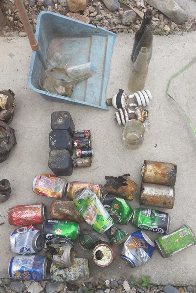Metal collected from under ABC jetty