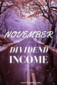 Dividend Income – November 2016