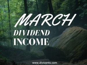 Dividend Income – March 2017