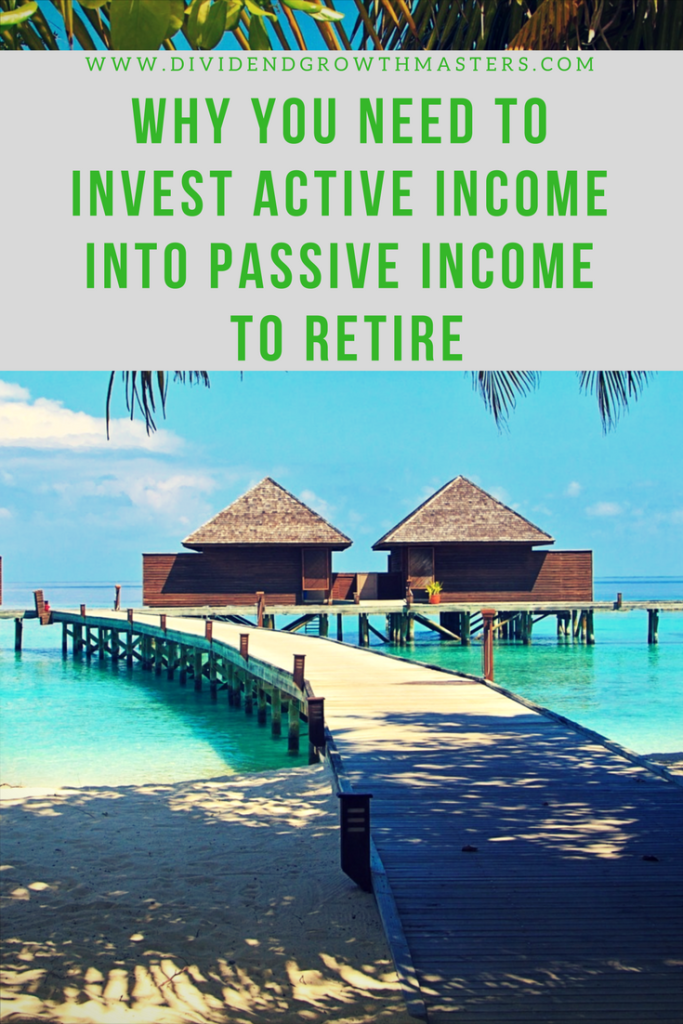 Why you need to invest active income into passive income to retire