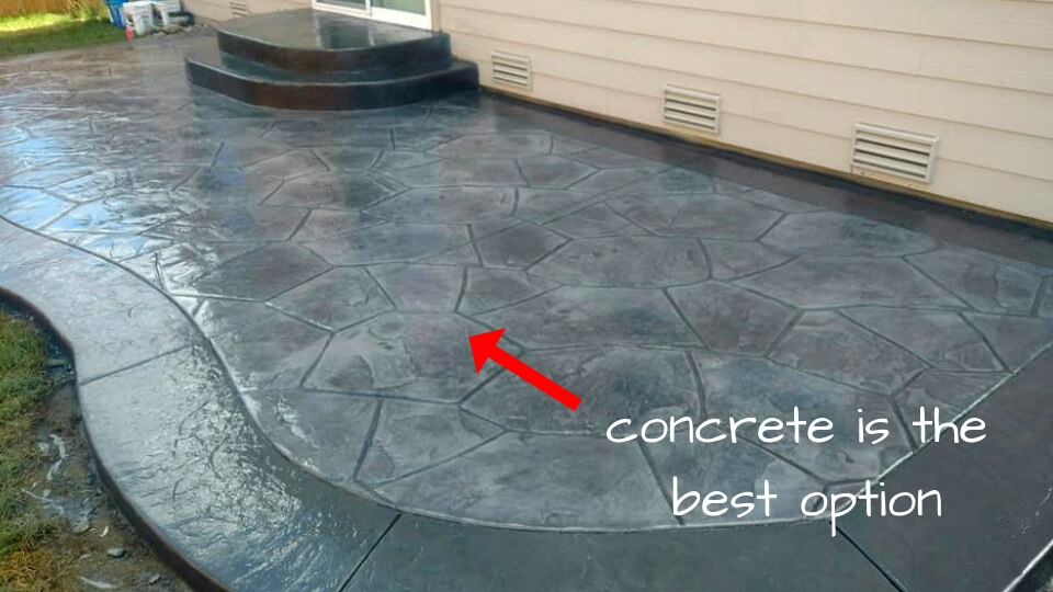 decorative concrete patios in pierce county