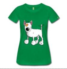 camiseta sobre perros