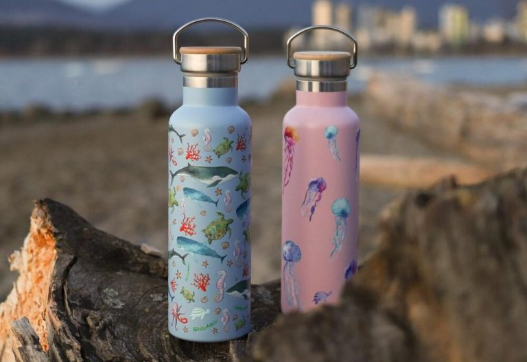 Net-zero-Stainless-Steel-Double-Wall-Insulated-Water-Bottle-with-Handle-jellies-sea-creatures