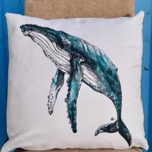 humpback-whale-throw-pillow-rachel-brooks-art