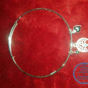 925 sterling Silver Bangle Bracelet with charms per photo - Stunning Price per 1 adjustable bangle All prices excludes national nominal door-to-door delivery fee