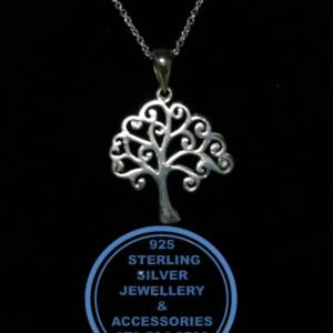 Family Tree Pendant Sterling Silver