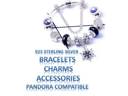 Sterling Silver Charms Pandora Compatible Bracelet Safety Chain Accessories