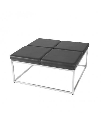 ss 64 black square ottoman