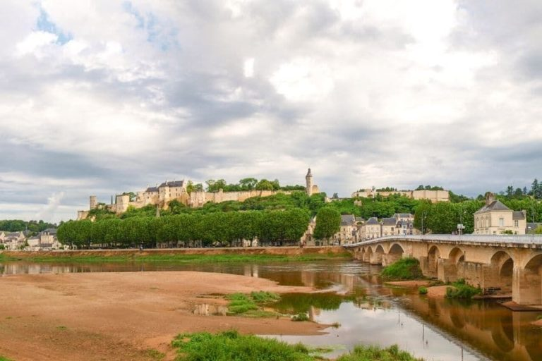 The Royal Fortress of Chinon overlooking the city