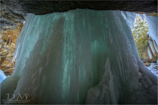 Behind The Frozen Waterfall