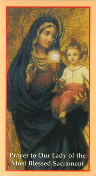 Prayer Cards Our Lady Of The Blessed Sacrament