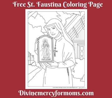 free st faustina divine mercy coloring page divine mercy for moms