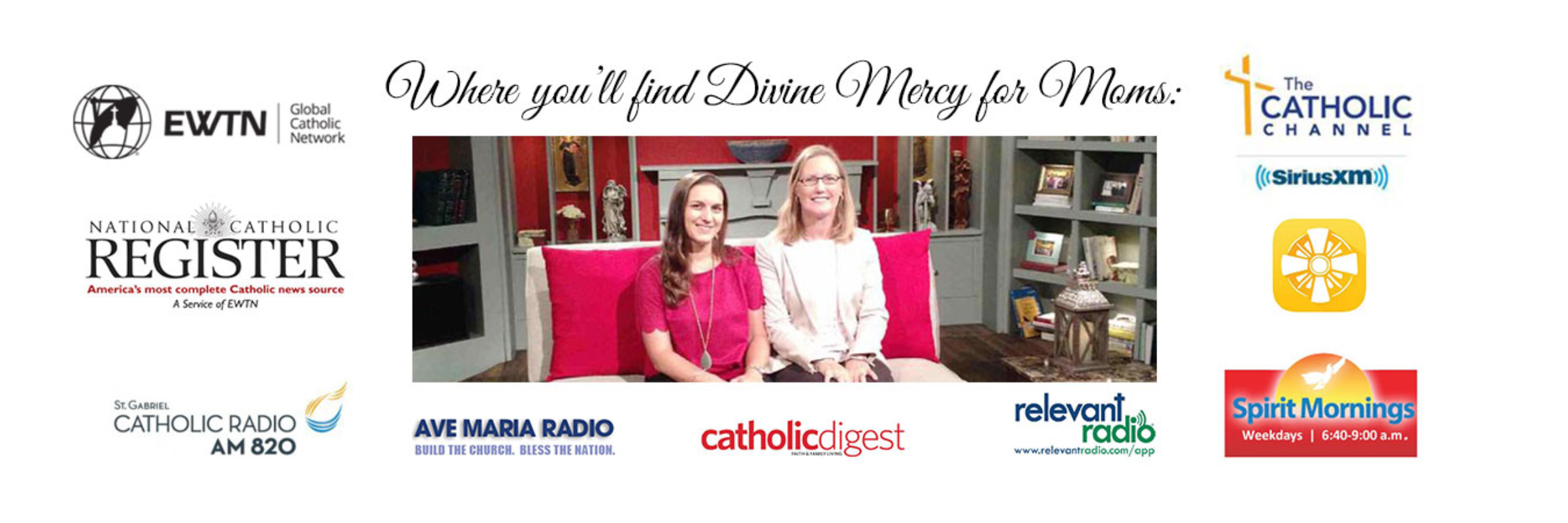 Media places where you'll find Divine Mercy for Moms