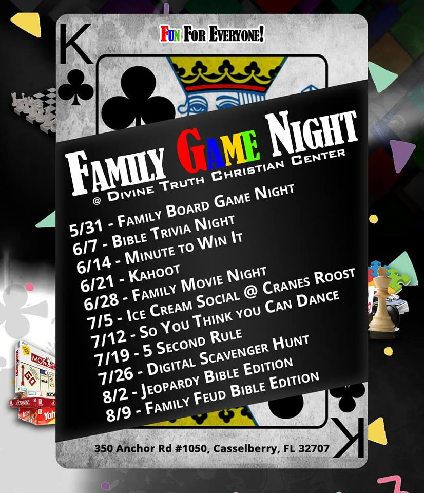 FamilyGameNight2018 – Divine Truth Christian Center