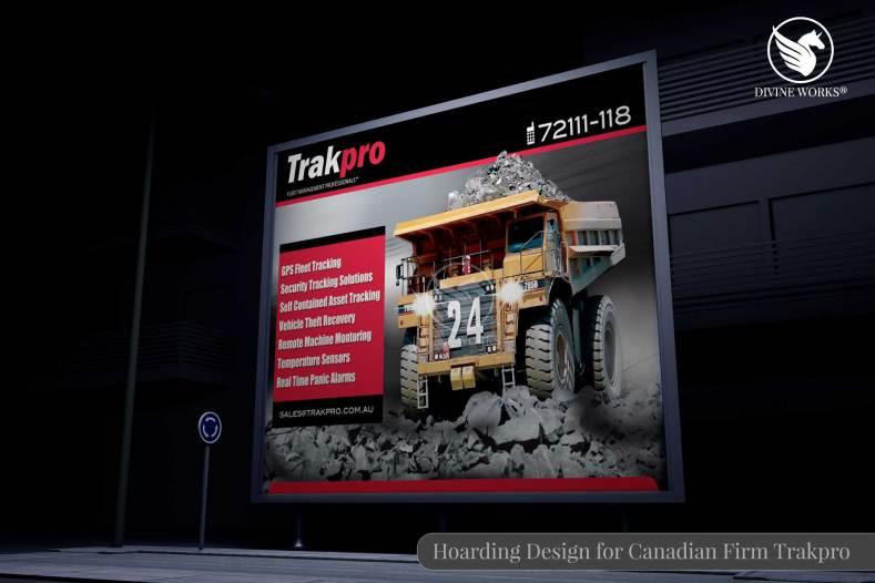 Canadian Firm Trakpro Hoarding Design By Divine Works