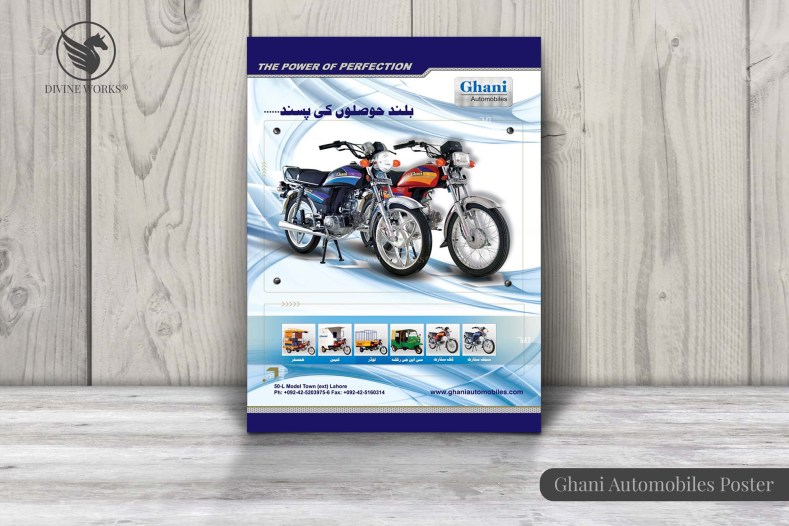 Gahni Automobiles Poster Design By Divine Works