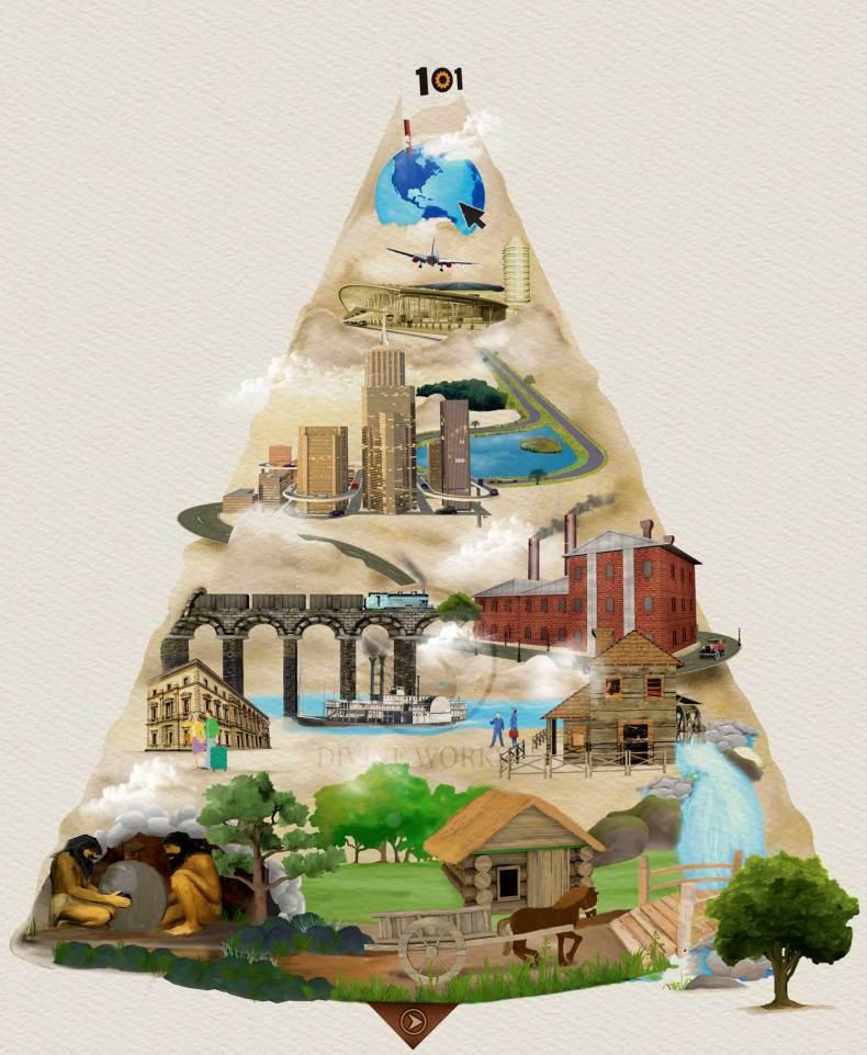 Evolution - digital raster illustration