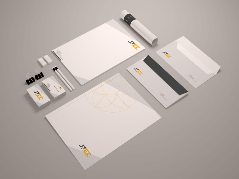 JMEC Construction Company Stationary Design by Divine Works