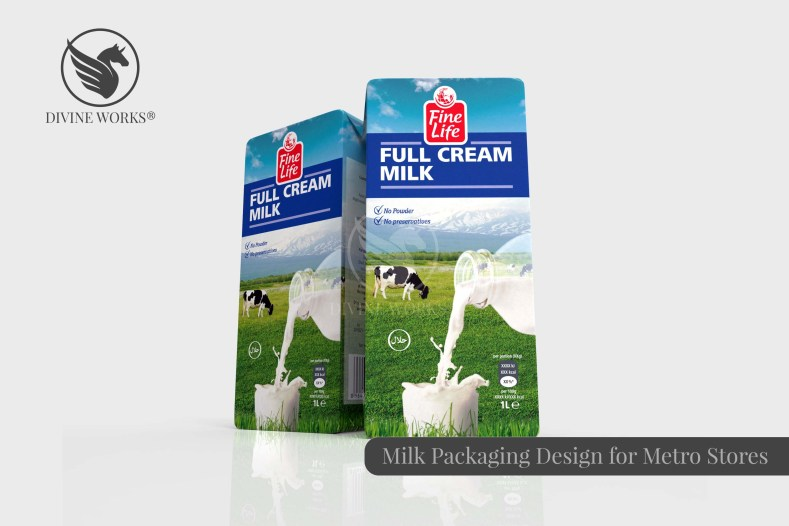 Milk Packaging Design By Divine Works