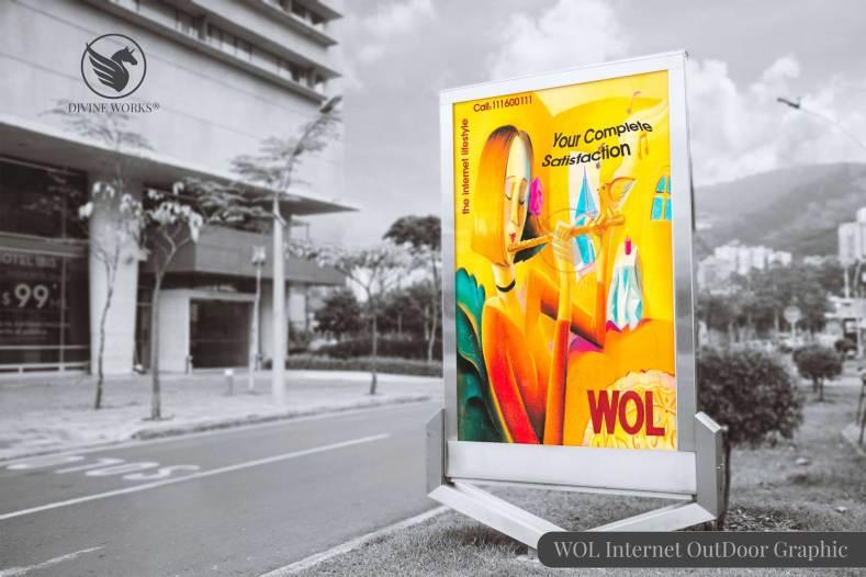 WOL Internet Outdoor Advertisement Design by Divine Works