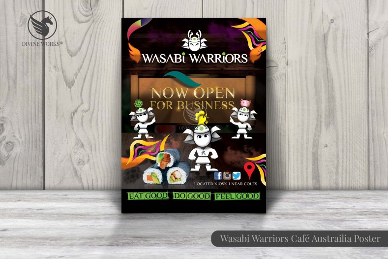 Wasabi Warriors Poster Design By Divine Works