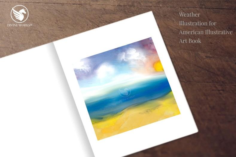 Weather - digital raster illustration