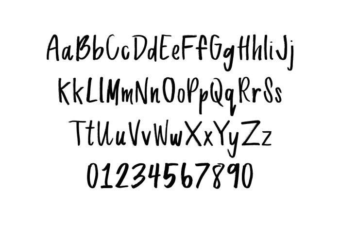 Bayside Hand - Hand Drawn Font