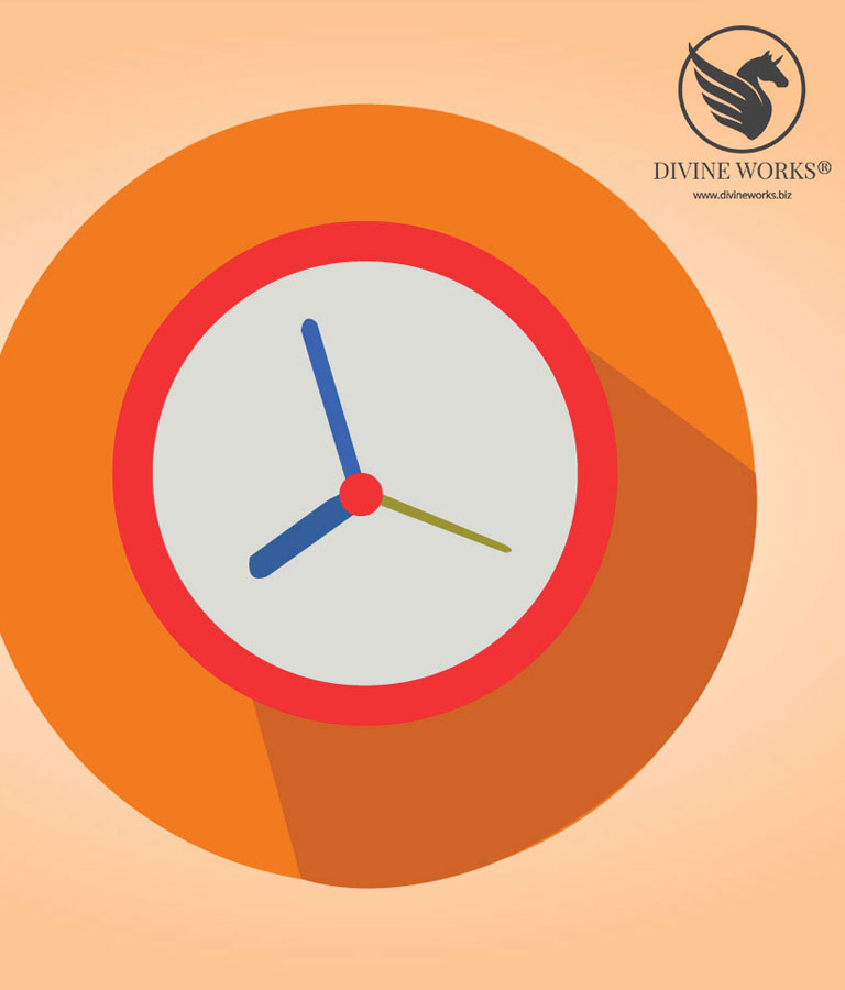 Clock Vector Illustration by Divine Works