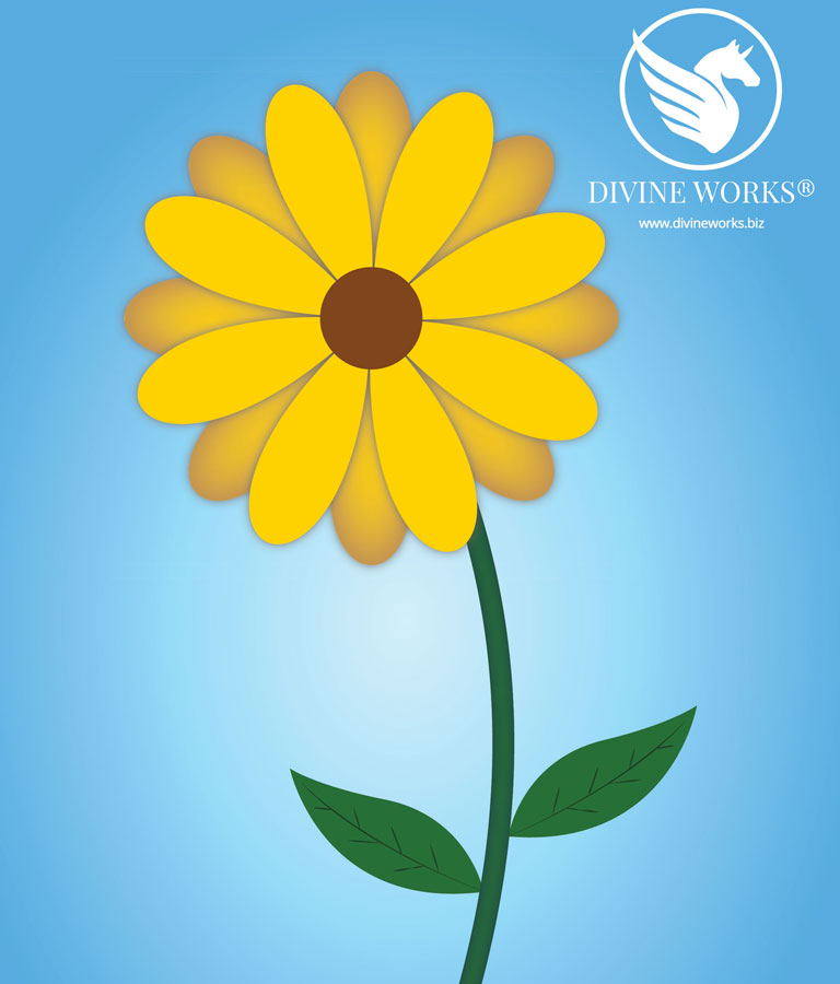 Flower Vector Illustration by Divine Works