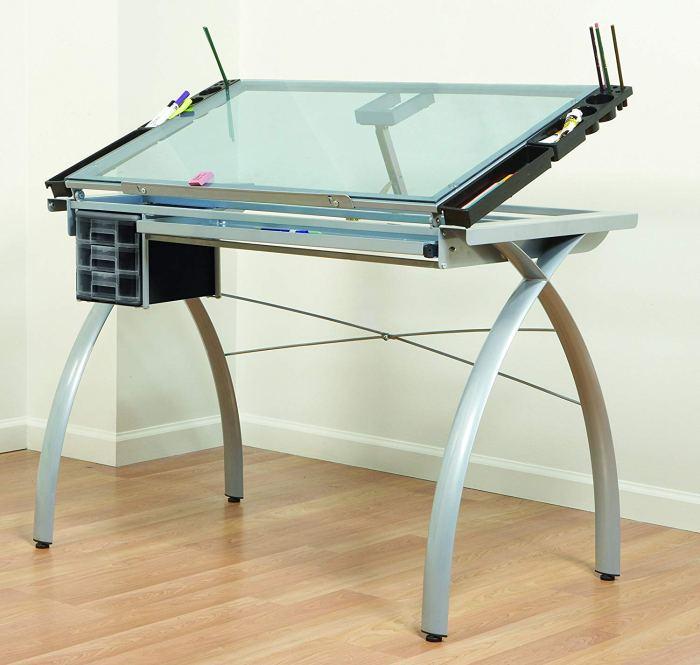 Studio Designs 10050 Futura Craft Station, Silver/Blue Glass