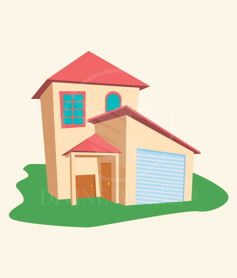 Free Adobe Illustrator Vector House Illustration by Divine Works