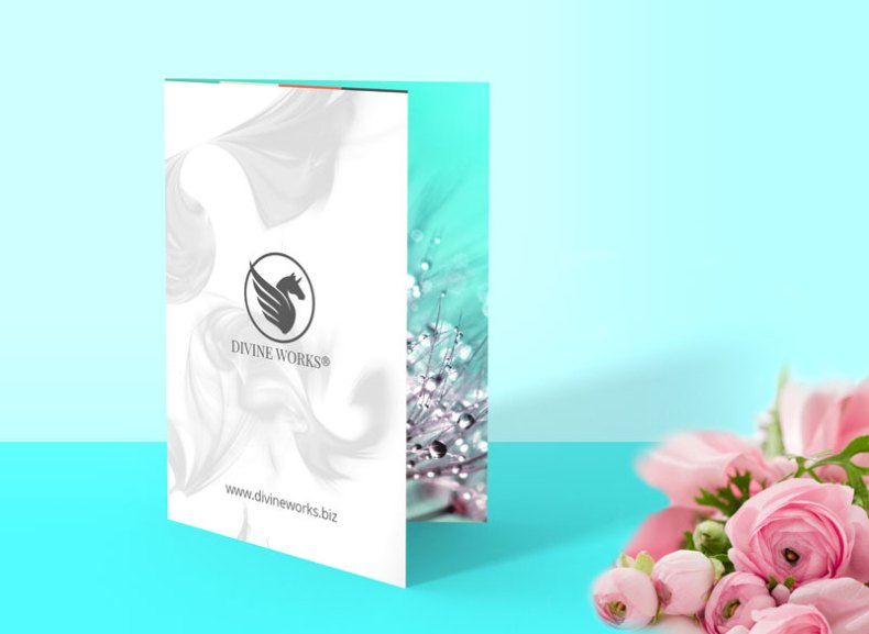 Free Single Fold Brochure Mockup by Divine Works