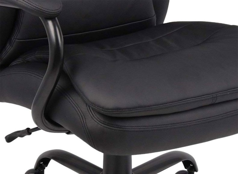 Heavy Duty Double Plush Leather Chair