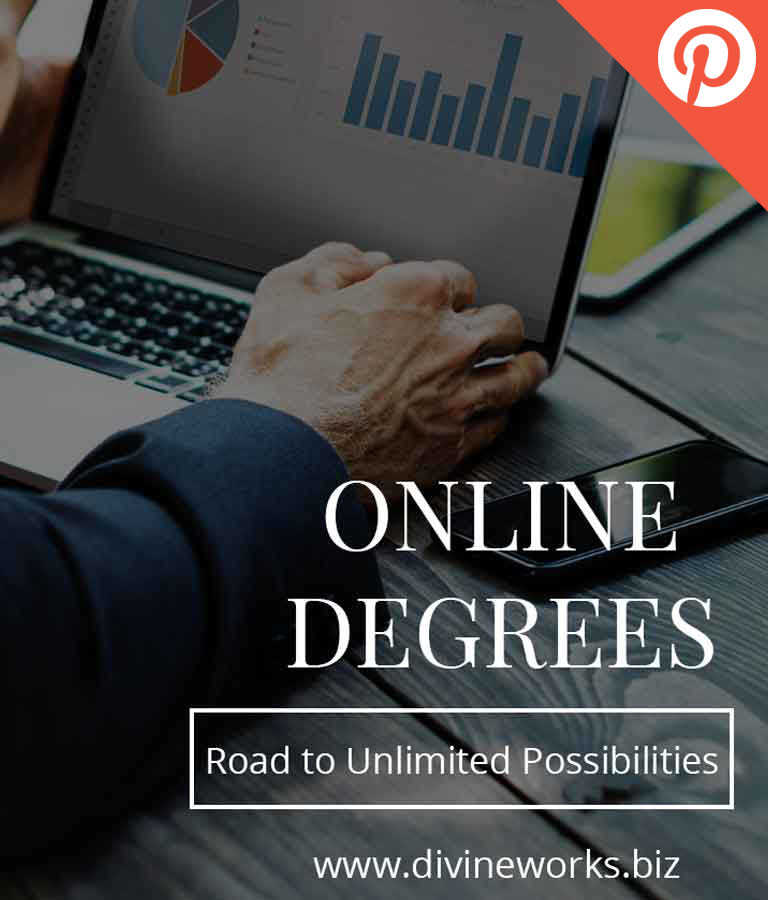 Free Online Degrees Pinterest Post Templates by Divine Works