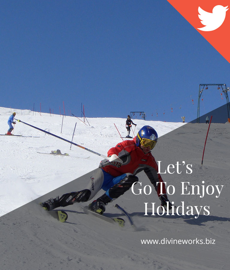 Enjoy Holidays Twitter Post Template by Divine Works