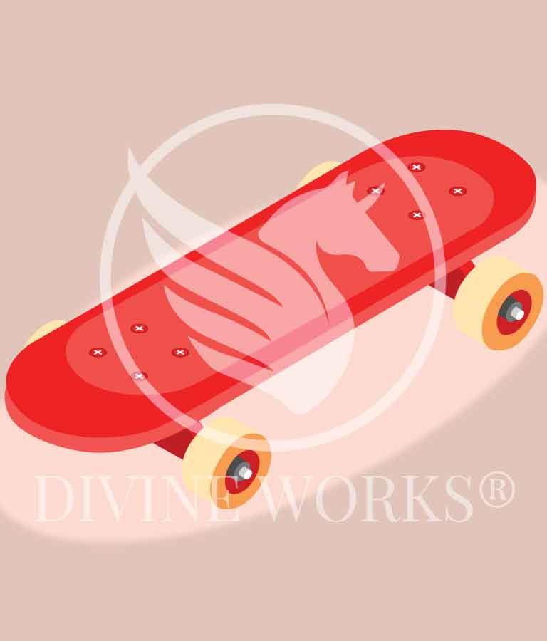 Free Adobe Illustrator Skateboard Vector Illustration by Divine Works