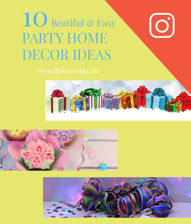 Free Party Decoration Instagram Post Templates by Divine Works