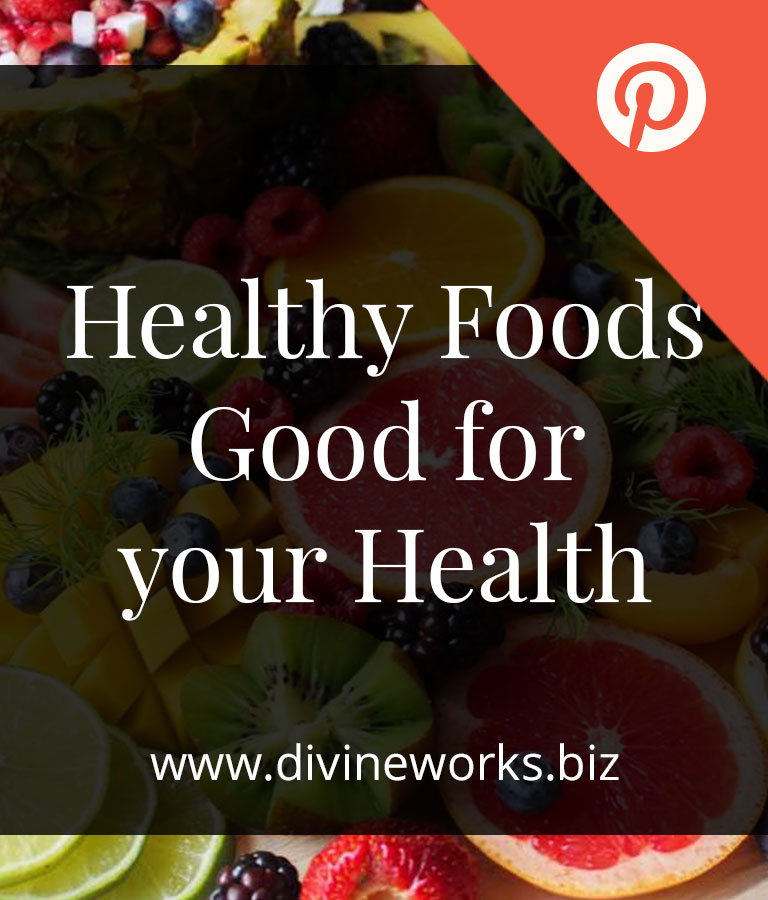Free Healthy Foods Pinterest Post Templates by Divine Works