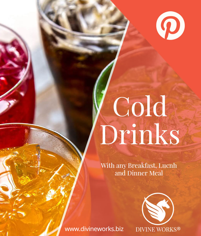 Free Cold Drinks Pinterest Post Template by Divine Works