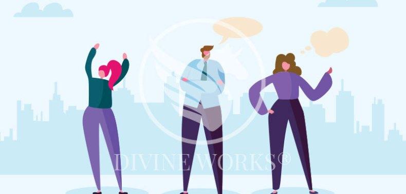 Free Adobe Illustrator Marketing Team Vector Illustration by Divine Works